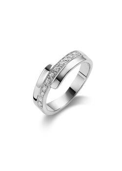 ring in zilver, 11 zirkonia
