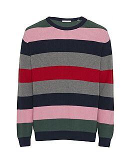 VALLEY o-neck striped knit - Vegan