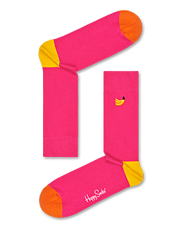 Embroidery Banana Sock