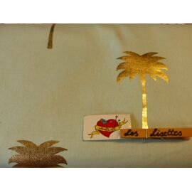Canvas Palm Gold