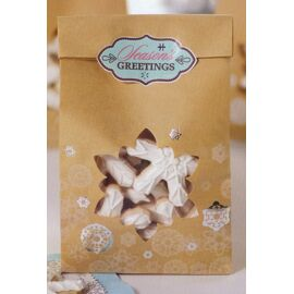 paper treat bags 'snowflake'