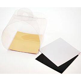 Take-away box - transparant - black cardboard