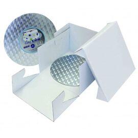22,50 x 22,50 x 15 - cake box & round board - PME