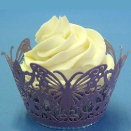 butterfly mauve - cupcake  wrappers - PME