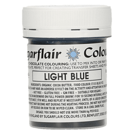 chocolate colour - light blue