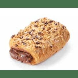 chocolade broodje afgewerkt met nootjes