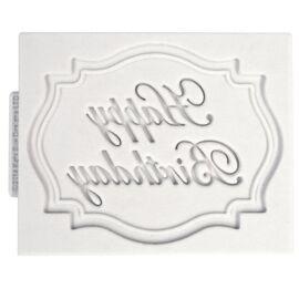 Happy Birthday plaque - Katy sue moulds