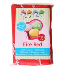 fire red - rolfondant rood - FunCakes