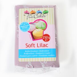 soft lilac - rolfondant paars  -  Funcakes