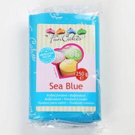 sea blue -  rolfondant blauw - FunCakes