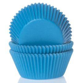 cyaan blauw - baking cups - HOM