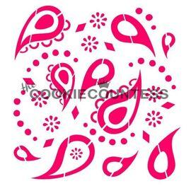 paisley - stencil