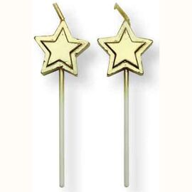 gold stars candles - PME