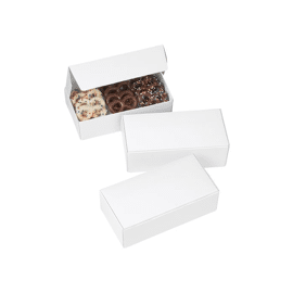 set chocolate candy boxes - white