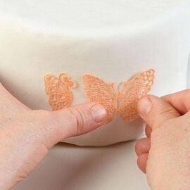 butterfly - silicone mat - Silikomart Wonder cakes