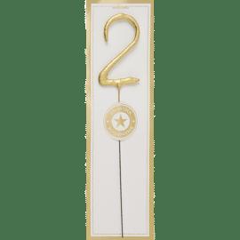 Mini Sparkle Candle gold / 2