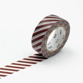 Masking tape - stripe café au lait