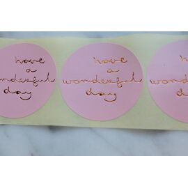 Set stickers - have a wonderful day