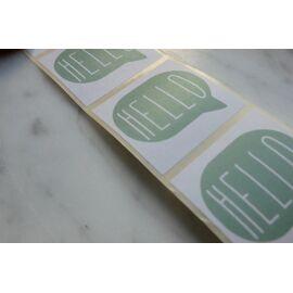 Set stickers - hello