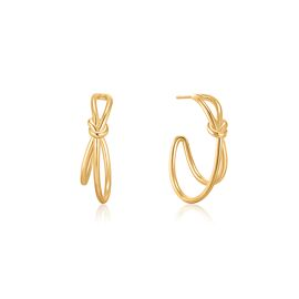 Gold knot Double band adjustable ring / Ania Haie