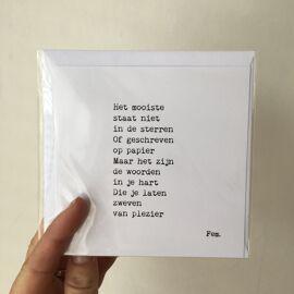 Postkaart Lichtpuntje / Papierpleziertjes