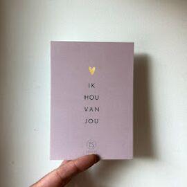 Postkaart Ik hou van jou / Zusss