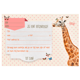 Set van 5 uitnodigingen Giraffe / Enfant Terrible
