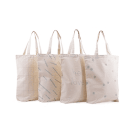 Totebag Handdrawn dots mint