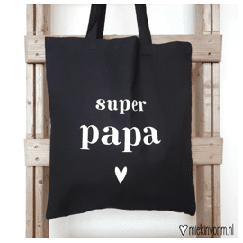 Totebag Super papa / Miek in vorm