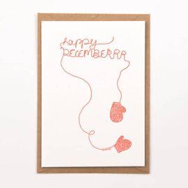 Postkaart Happy december / Studio Flash
