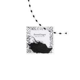 Feestslinger ruit/zwart / Zusss