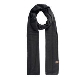 Fijngebreide zachte sjaal Zusss / grafietgrijs