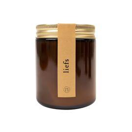 Geurkaars in glazen potje Liefs / Zusss