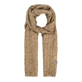 Sjaal met twijgenprint kaki / Zusss