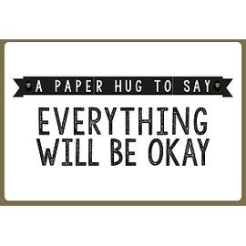 Wenskaart A paper hug to say everything will be okay / Enfant Terrible
