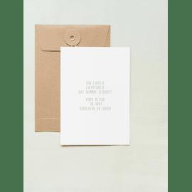 Postkaart Een lichtje, lichtpuntje