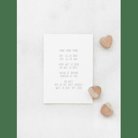 Postkaart Dank dank dank / Gewoon Jip