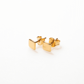Earstuds Square gold / Selva Sauvage