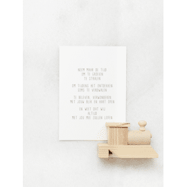 Postkaart Neem maar de tijd / Gewoon Jip
