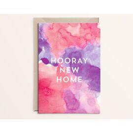 Wenskaart Hooray new home / Kathings
