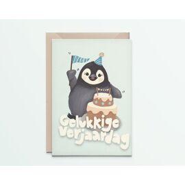 Wenskaart Happy penguin / Kathings