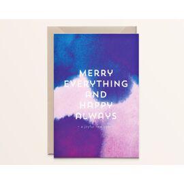 Wenskaart Merry everything and happy always / Kathings