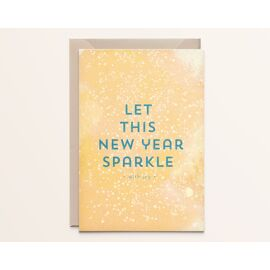 Wenskaart Let this new year sparkle with joy / Kathings