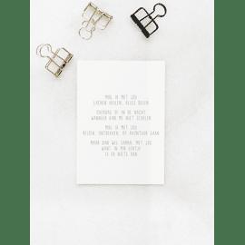 Postkaart Mag ik met jou / Gewoon Jip