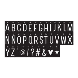Lightbox letter set - monochrom