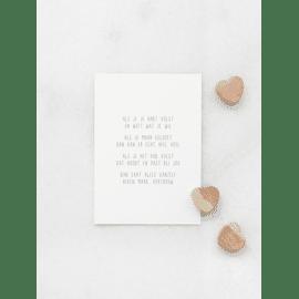 Postkaart Als je je hart volgt / Gewoon Jip