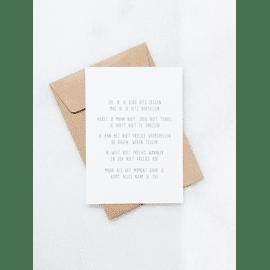 Postkaart Zal ik jou eens iets zeggen / Gewoon Jip