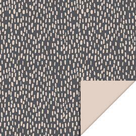 Rol inpakpapier Black dots - olive green / HOP