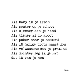 Postkaart Als baby in je armen / Papierpleziertjes