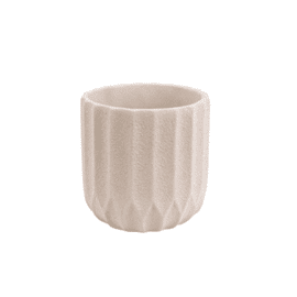 Plant pot Stripes Cement Small Ivory / Present Time